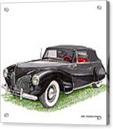 Lincoln Zephyr Cabriolet Acrylic Print