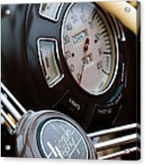 1938 Lincoln-zephyr Continental Cabriolet Steering Wheel Emblem -1817c Acrylic Print