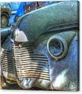 1940s Antique Chevrolet Hood View Acrylic Print