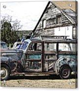 1940s Era Packard Wood-panel Wagon Acrylic Print