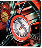 1941 Buick Eight Special Steering Wheel Emblem Acrylic Print