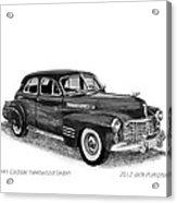 1941 Cadillac Fleetwood Sedan Acrylic Print