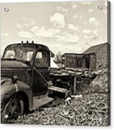 1941 Chevy Truck In Sepia Acrylic Print