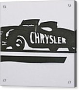 1941 Chrysler Indianapolis 500 Pace Car Acrylic Print