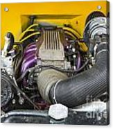1941 Ford Pickup Engine Motor  Classic Automobile In Color 3082. Acrylic Print