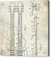 1941 Gibson Electric Guitar Patent Drawing Acrylic Print