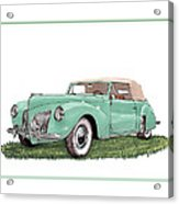 1941 Lincoln V-12 Continental Acrylic Print
