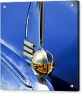 1942 Lincoln Zephyr 12 Hood Ornament Acrylic Print
