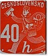 1945 Czechoslovakia Newspaper Stamp Acrylic Print