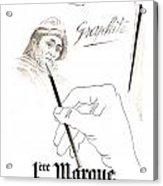 1946 Advertisement 1ere Marque Crayon Graphite Pencil Bagnol And Acrylic Print