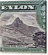 1946 Ceylon - Sri Lanka - Stamp Acrylic Print