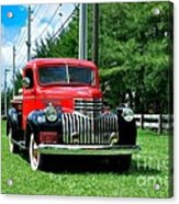 1946 Chevy Short Bed Acrylic Print by Andres LaBrada