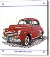 Ford Special Deluxe Coup E  From 1946  Acrylic Print