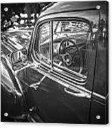 1946 Hudson Super Six Sedan Bw Acrylic Print