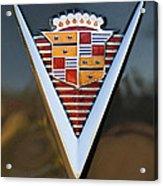 1947 Cadillac Emblem Acrylic Print by Jill Reger