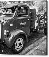 1947 Ford Coca Cola C.o.e. Delivery Truck Bw Acrylic Print