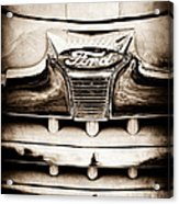 1947 Ford Deluxe Grille Grille Emblem Acrylic Print