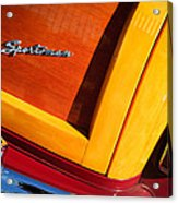 1947 Ford Super Deluxe Sportsman Convertible Taillight Emblem Acrylic Print
