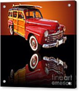 1947 Ford Woody Acrylic Print by Jim Carrell