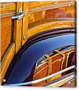 1947 Mercury Woody Reflecting Into 1947 Ford Woody Acrylic Print