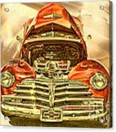 1948 Chev Red Gold Metal Art Acrylic Print