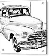 1948 Chevrolet Fleetmaster Antique Car Illustration Acrylic Print