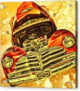 1948 Chevy Gold Acid Art Acrylic Print