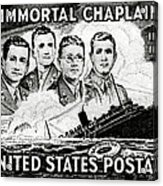 1948 Immortal Chaplains Stamp Acrylic Print