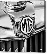 1948 Mg Tc Hood Ornament -767bw Acrylic Print