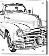 1948 Pontiac Silver Streak Convertible Illustration Acrylic Print