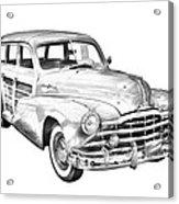 1948 Pontiac Silver Streak Woody Illustration Acrylic Print