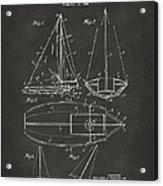 1948 Sailboat Patent Artwork - Gray Acrylic Print