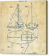 1948 Sailboat Patent Artwork - Vintage Acrylic Print