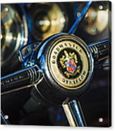 1949 Buick Roadmaster Riviera Coupe Steering Wheel Emblem Acrylic Print