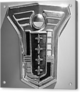 1949 Mercury Station Wagon Emblem Acrylic Print