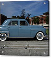 1949 Plymouth Acrylic Print by Shukis Lockwood