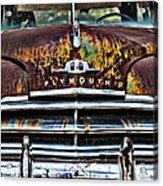 1949 Plymouth Acrylic Print by Thomas Kessler