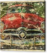 1949 Red Ford Coupe Acrylic Print