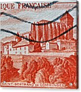 1949 Republique Francaise Stamp Acrylic Print