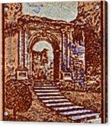 1949 San Francisco Ruins Dominican Republic Stamp Acrylic Print