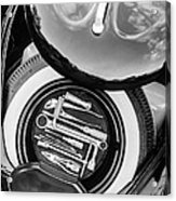 1949 Volkswagen Vw Hebmuller Cabriolet Tool Kit -0278bw Acrylic Print