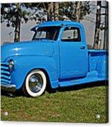 1950 Baby Blue Chevrolet Pu Acrylic Print