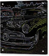 1950 Ford Coupe Neon Glow Acrylic Print
