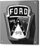 1950 Ford Custom Deluxe Station Wagon Emblem Acrylic Print by Jill Reger