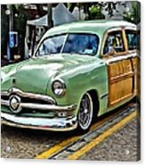 1950 Ford Deluxe Woody Station Wagon Acrylic Print