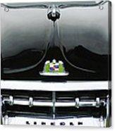 1950 Lincoln Cosmopolitan Henney Limousine Grille Emblem - Hood Ornament Acrylic Print