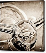 1950 Oldsmobile Rocket 88 Steering Wheel Emblem Acrylic Print