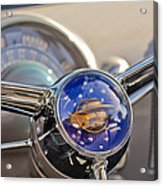 1950 Oldsmobile Rocket 88 Steering Wheel Acrylic Print by Jill Reger
