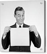 1950s 1960s Smiling Man Funny Facial Acrylic Print