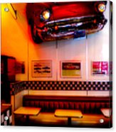 1950s American Diner - Featured In Vehicle Enthusiasts Acrylic Print